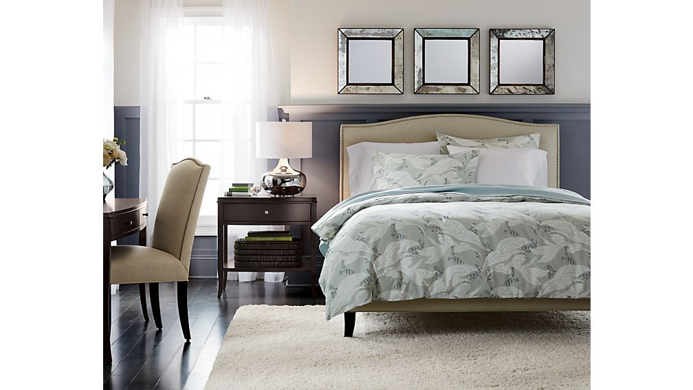 crate and barrel bedroom colette upholstered bed origin crate and 15043