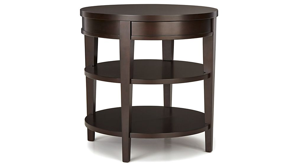 Colette Round Side Table with Drawer