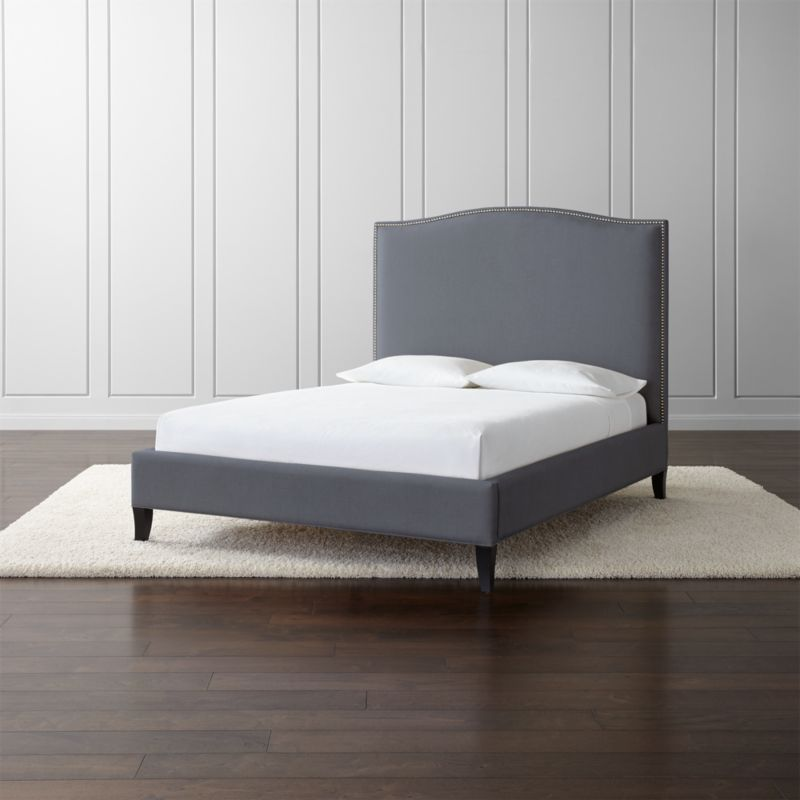 pin it colette tall upholstered bed