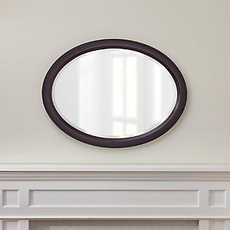 Colette Espresso Oval Wall Mirror