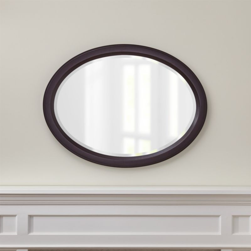 Bathroom Mirrors Crate And Barrel colette oval mirror | crate and barrel