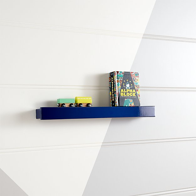 Dark Blue Display Ledge Reviews Crate And Barrel