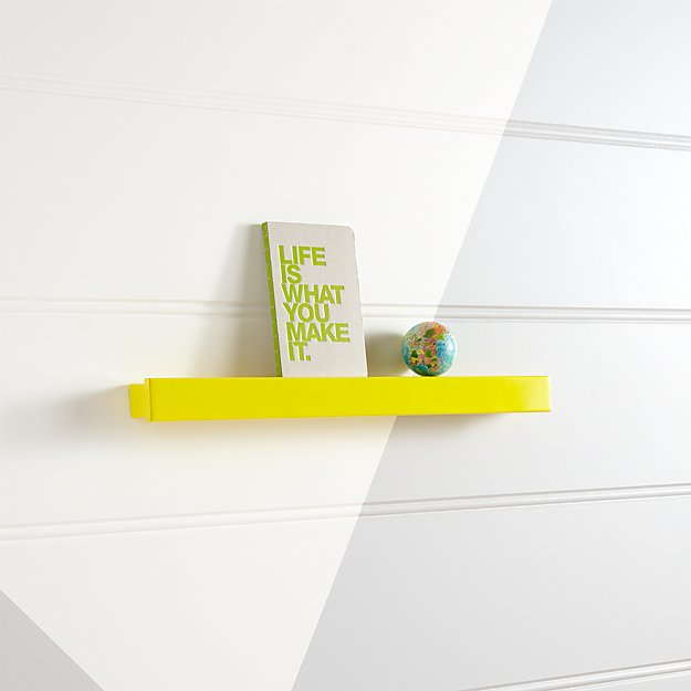 Yellow Display Ledge Reviews Crate And Barrel