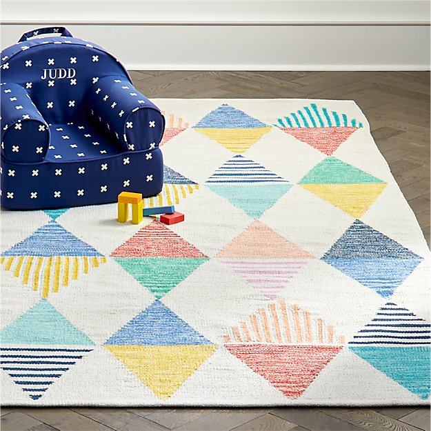 Colorful Triangle 8 X 10 Rug Reviews Crate And Barrel