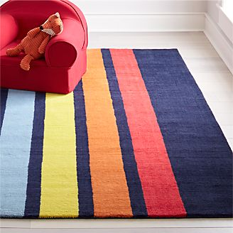 Colorful Striped Rug Kids