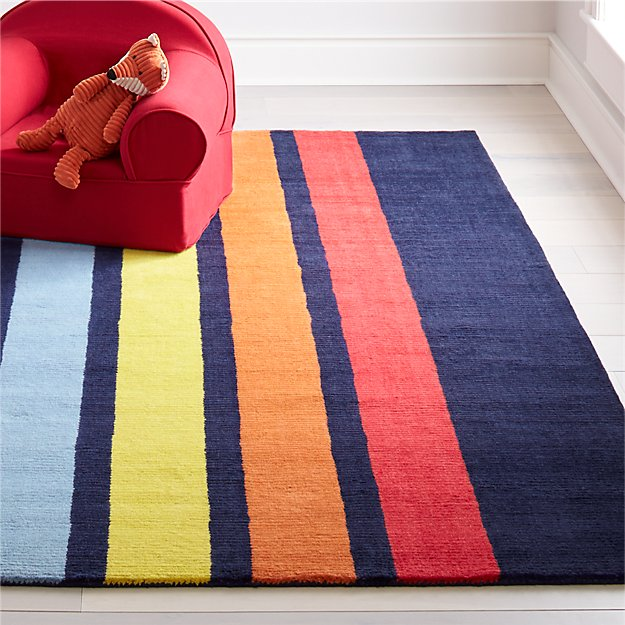 Colorful Striped Rug Crate And Barrel