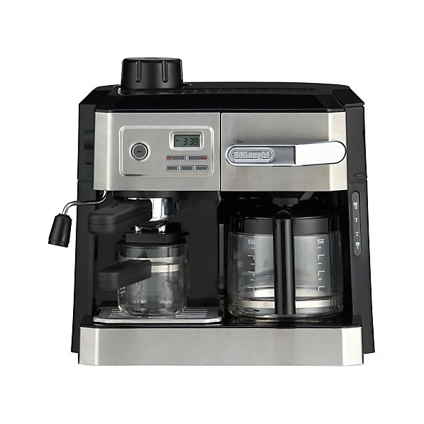 DeLonghi ® Combi 10 Cup Coffee Maker-4 Cup Espresso Maker