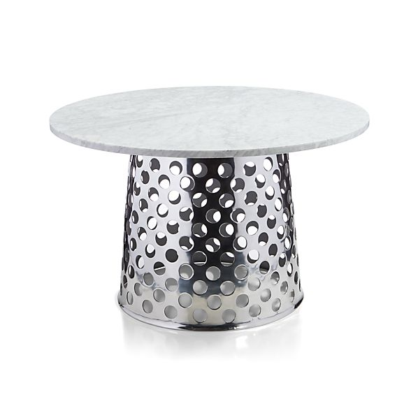 """Como 48"""" Round Marble Top Dining Table"""