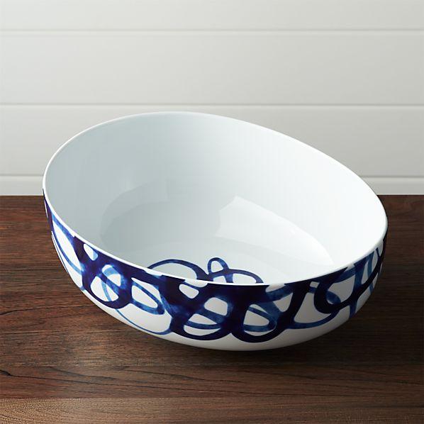 Como Swirl Serving Bowl