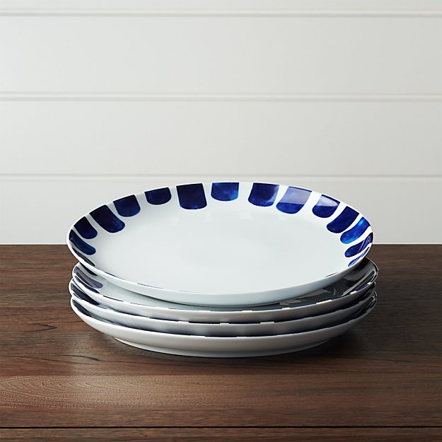 Set Of 4 Como Tile Dinner Plates Crate And Barrel