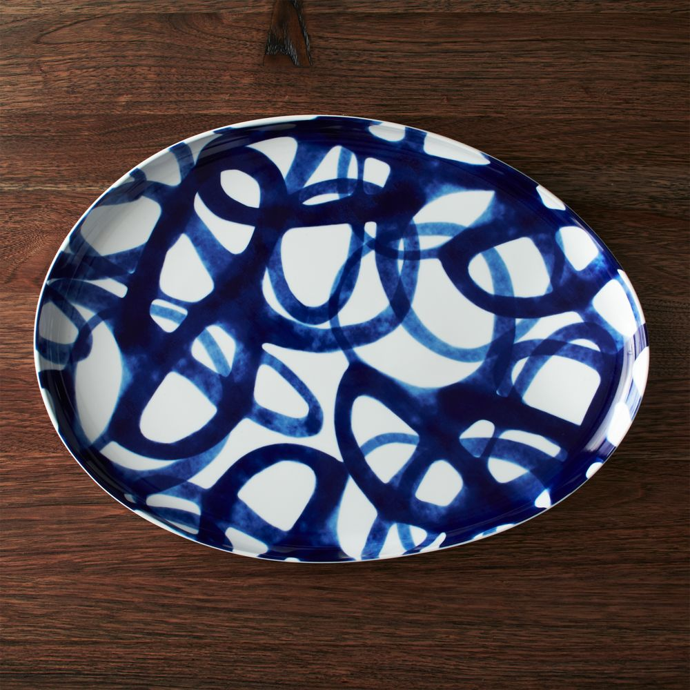 Como Swirl Platter - Crate and Barrel