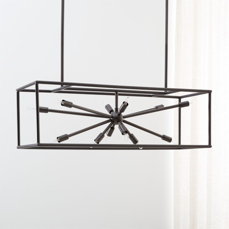 crate and barrel lighting fixtures. Compass Dark Brass Caged Starburst Chandelier Crate And Barrel Lighting Fixtures E