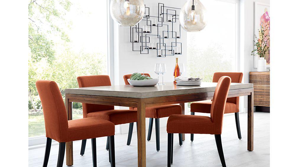 Parsons Concrete Top/ Elm Base 72x42 Dining Table