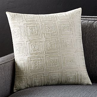 """Confetti Silver 18"""" Pillow with Feather-Down Insert"""