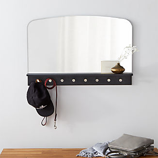 Conner Entryway Mirror With Hooks