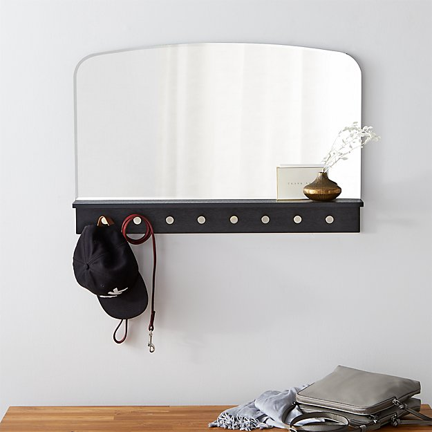 Conner Entryway Mirror With Hooks - Image 1 of 5