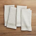 Conrad Dark Natural Linen Napkins, Set of 4
