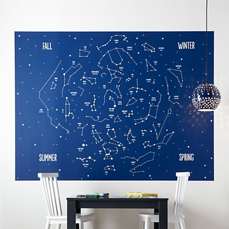 Magnificent Constellations Mural Decal Beatyapartments Chair Design Images Beatyapartmentscom