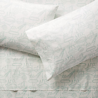 Organic Construction Vehicle Sheet Set