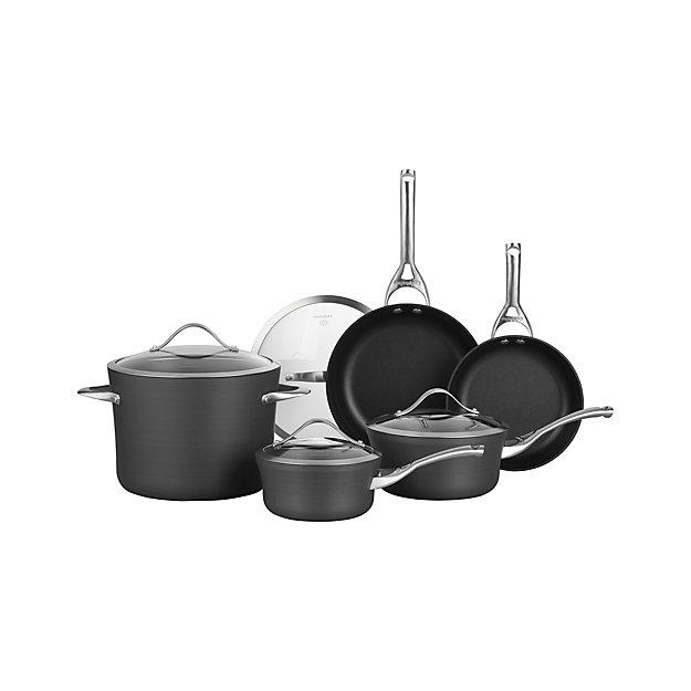 Calphalon Contemporary Non Stick 9 Piece Cookware Set With Bonus Reviews Crate And Barrel