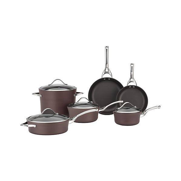 Calphalon ® Contemporary ® Nonstick Bronze 10-Piece Cookware Set with Double Bonus