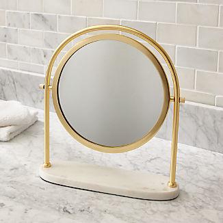 Contrell Round Brass Mirror