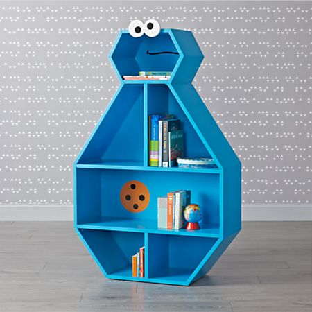 Sesame Street Cookie Monster Bookcase Crate And Barrel