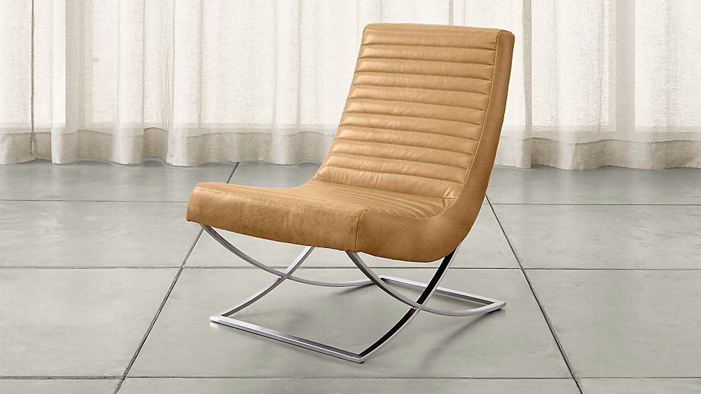 Cooper armless leather chair crate and barrel for Crate and barrel armless chair