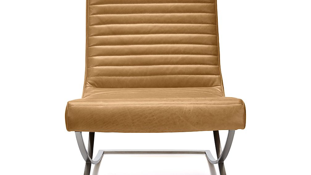 Armless Leather Chairs cooper armless leather chair   crate and barrel