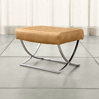 Cooper Leather Ottoman