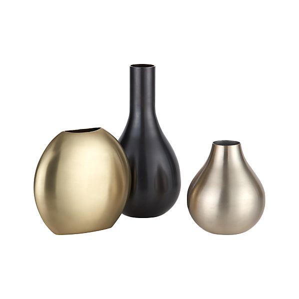 3-Piece Cooper Vase Set