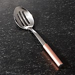 Slotted Spoon with Copper Handle