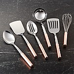 Copper Handled Utensils Set of Six