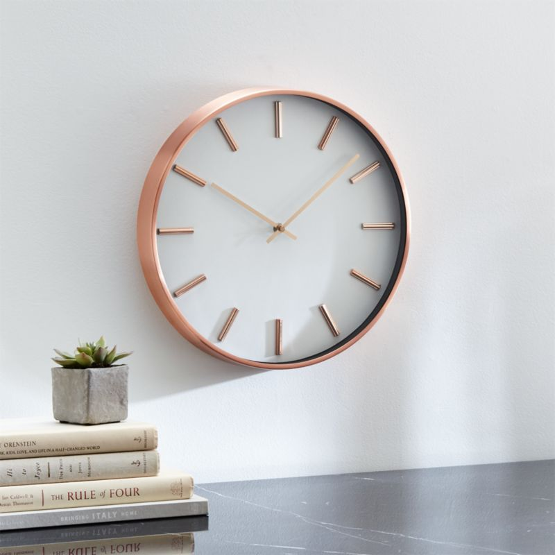 Copper Wall Clock Reviews Crate And Barrel