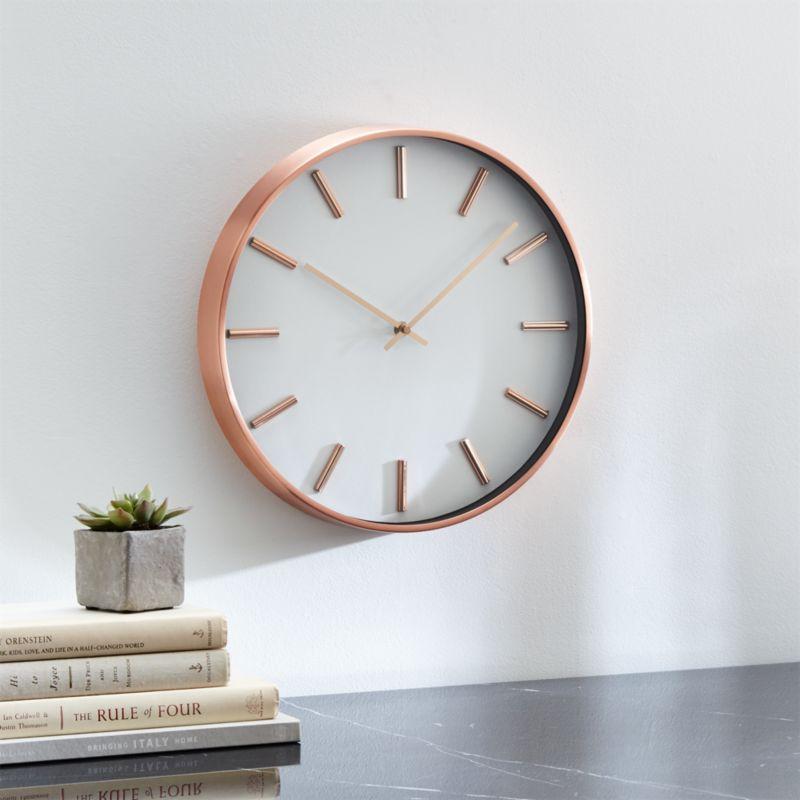Copper Wall Clock Reviews Crate And Barrel