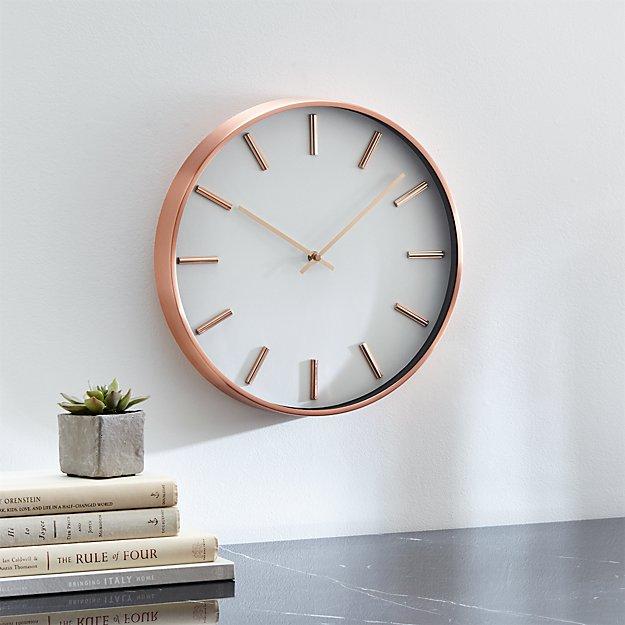 copper wall clock crate and barrel. Black Bedroom Furniture Sets. Home Design Ideas