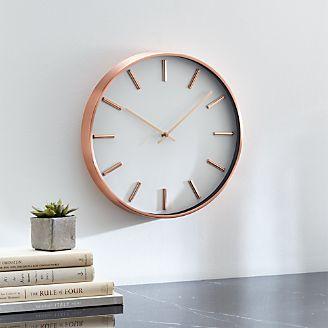 Rix Copper 14 Wall Clock