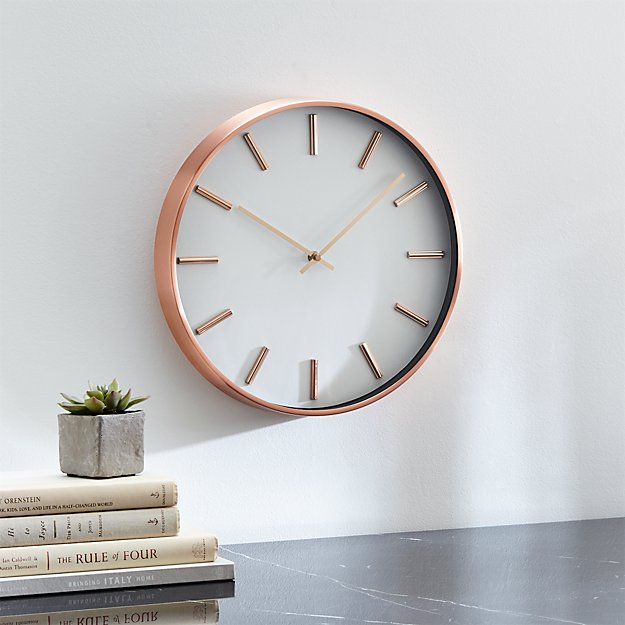 16 Rose Gold And Copper Details For Stylish Interior Decor: Copper Wall Clock + Reviews