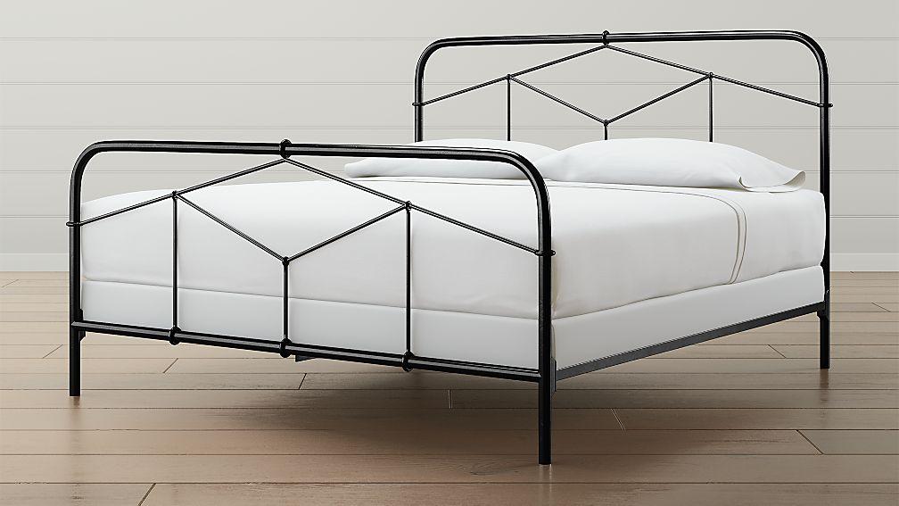 Cora King Black Iron Bed - Image 1 of 4