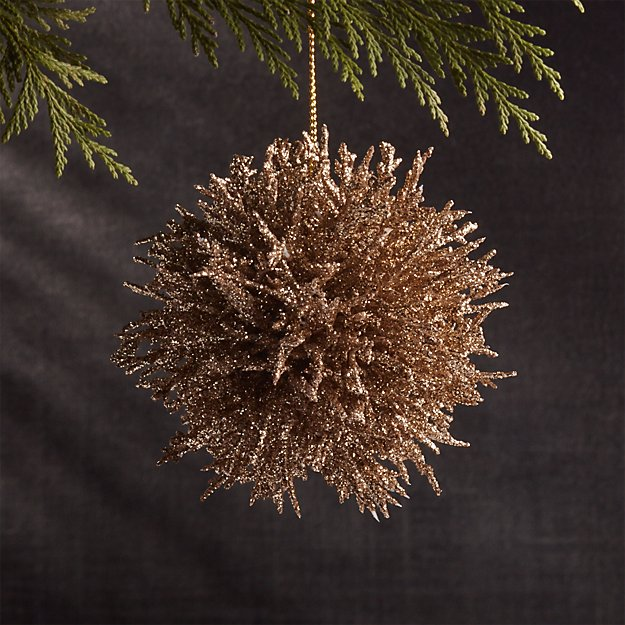 Coral Cluster Gold Ornament