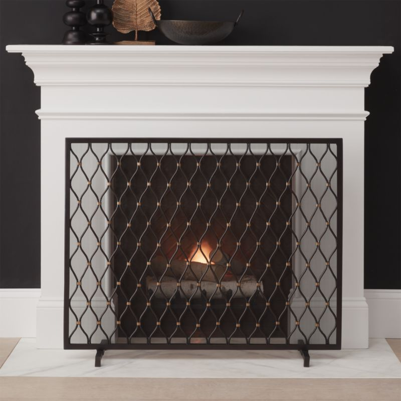 Fireplace Design large fireplace screen : Fireplace Screens, Tools and Accessories | Crate and Barrel