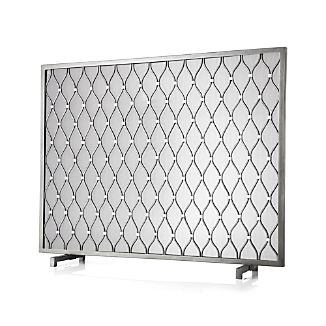 Corbett Silver Fireplace Screen