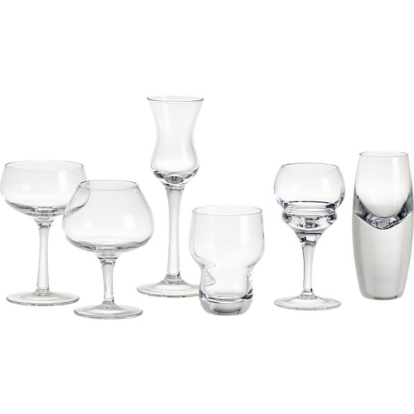 6-Piece Assorted Cordial Glass Set