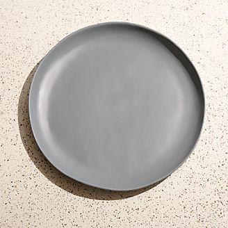 Corin Melamine Grey Dinner Plate & Dinner Plates: Square Oval Rectangular u0026 Round | Crate and Barrel