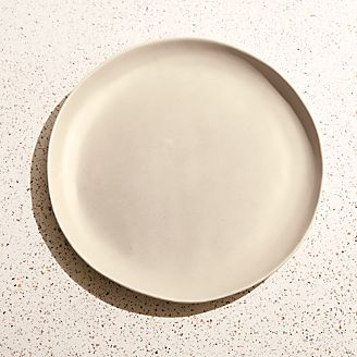 Corin Melamine Sand Beige Dinner Plate & Melamine Dinnerware for Outdoor Dining | Crate and Barrel