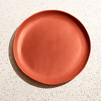 Corin Melamine Spice Orange Dinner Plate : coloured dinner plates - pezcame.com