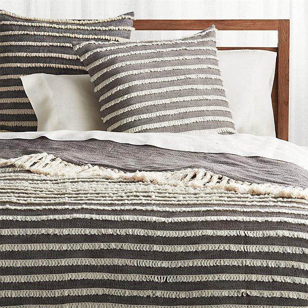 Corlett Grey and White Blanket - Image 1 of 10