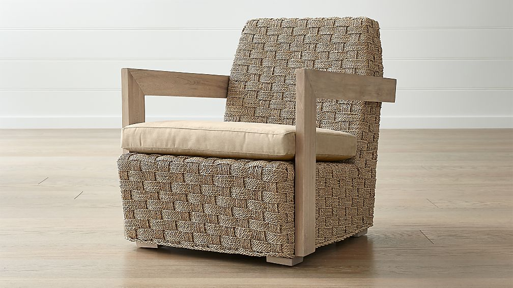 Coronado Seagrass Chair with Cushion - Image 1 of 6