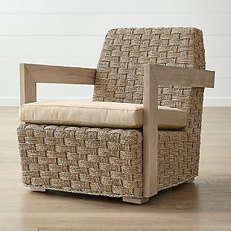 Coronado Seagrass Chair With Cushion