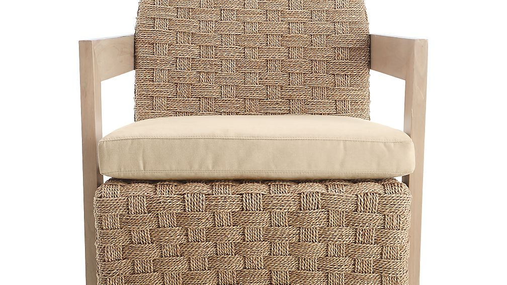 Coronado Seagrass Chair With Cushion Reviews Crate And Barrel